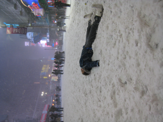 SnowAngel in Times Square
