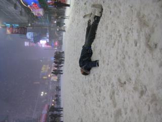 SnowAngel in Times Square