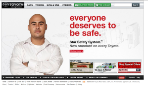 Toyota safety page